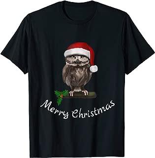 Merry Christmas Weihnachten Eule Owl - angry (D010-0525A) T-Shirt