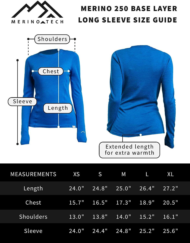 Merino Wool Hiking Socks Merino.tech Merino Wool Base Layer Women 100/% Merino Wool Midweight Long Sleeve Thermal Shirts