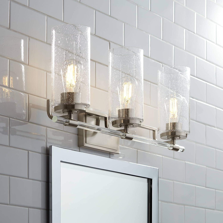 未使用 Portneuf モデル着用&注目アイテム Modern Wall Mount Light Hardwired Brushed Silver Nickel