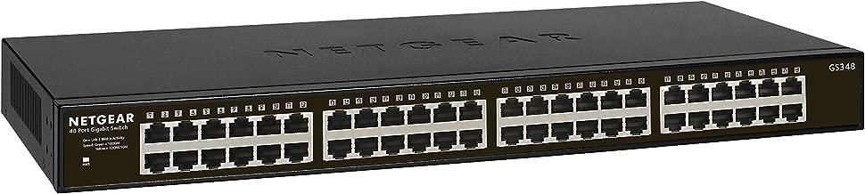 NETGEAR 48-Port Gigabit Ethernet Unmanaged Switch (GS348) - Desktop/Rackmount, Fanless Housing for Quiet Operation