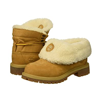 Timberland Kids Timberland(r) Icon Collection Roll-Top (Little Kid) (Wheat Nubuck) Kids Shoes