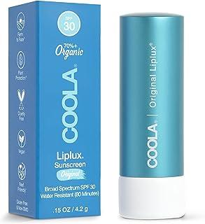 بالم لب ضد آفتاب COOLA Organic Liplux ، مراقبت از لب برای محافظت روزانه ، Broad Spectrum SPF 30