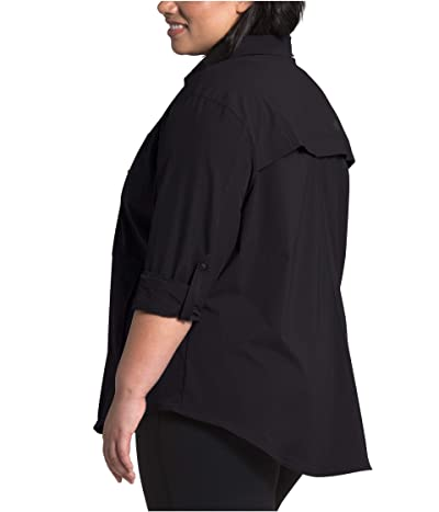 The North Face Plus Size Outdoor Trail Long Sleeve Shirt (TNF Black) Women