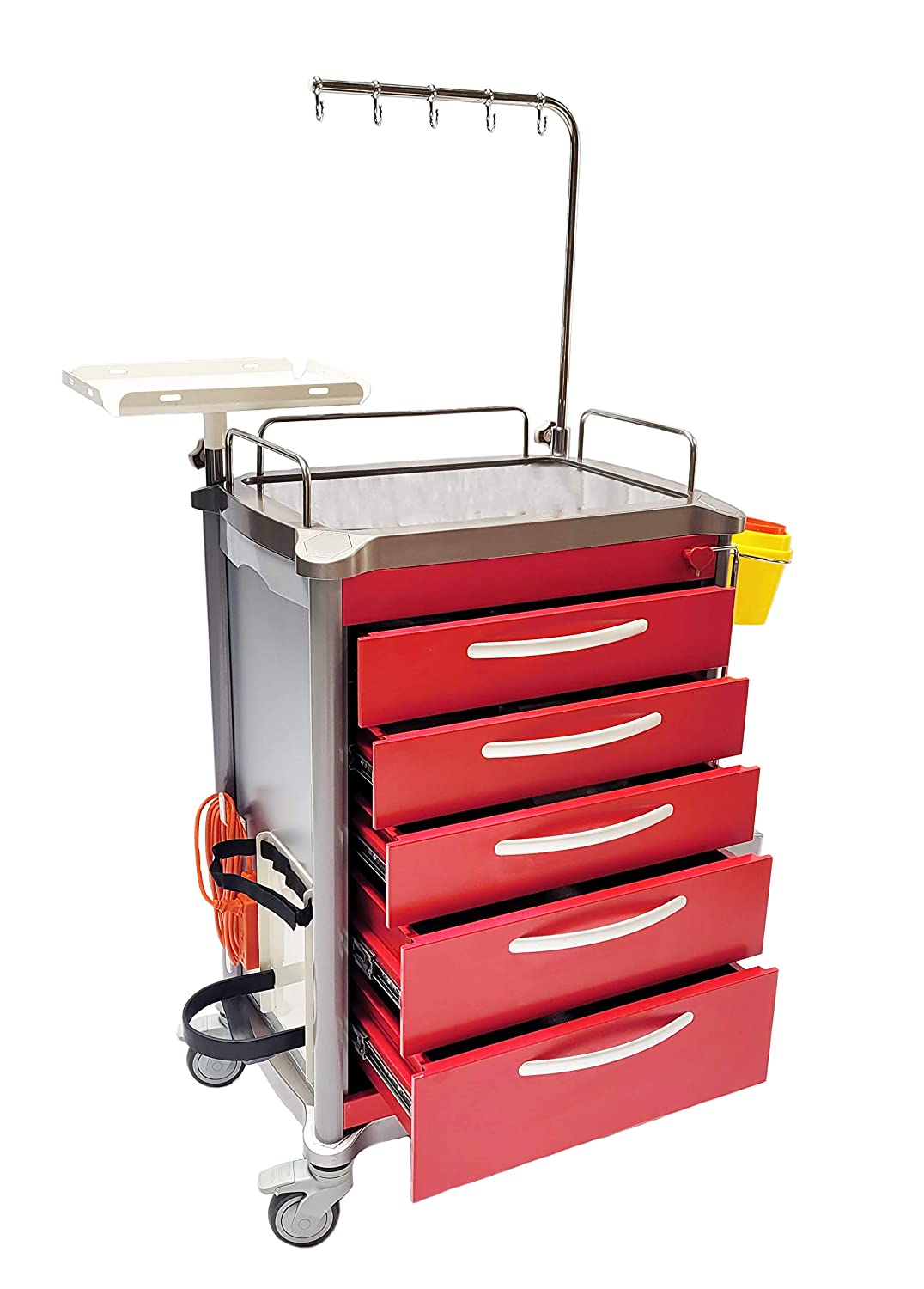 Limited time sale MS3C-600CR Hospital Emergency Crash Cart Arlington Mall Accessory with Package