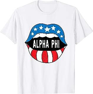 Alpha-Phi Sorority Retro Vintage Greek T-Shirt