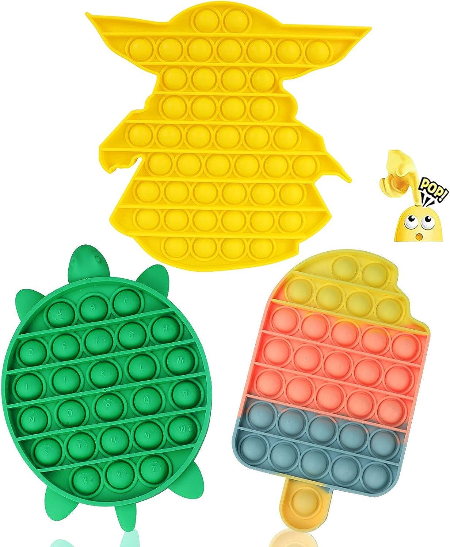 Ranking TOP9 QEVXE 3-Pack Push Pop Max 90% OFF Bubble Relieve Toys Fidget Sensory Stress