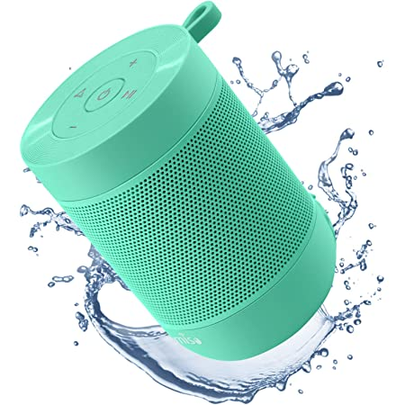 Portable Bluetooth Speaker, COMISO Bluetooth Wireless Mini Pocket Speaker, 360 HD Surround Sound & Rich Stereo Bass, 12H Playtime, IPX5 Waterproof for Travel, Outdoors, Home and Party (Mint)