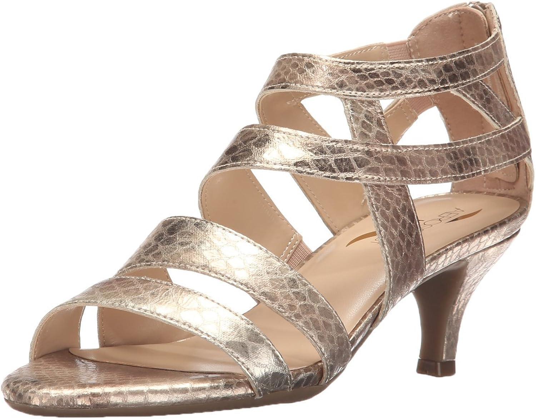 Aerosoles Woherren Masquerade Dress Sandal, Gold Snake, 6 M US