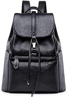 Tisdaini Donna Borse a zainetto viaggio moda casual scuola Borse a spalla marca zaino Nero