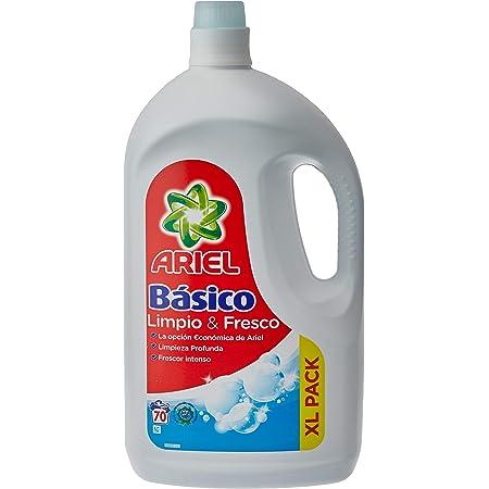 Ariel Detergente Líquido para Lavadora, Básico, 3.8 L, 70 Lavados