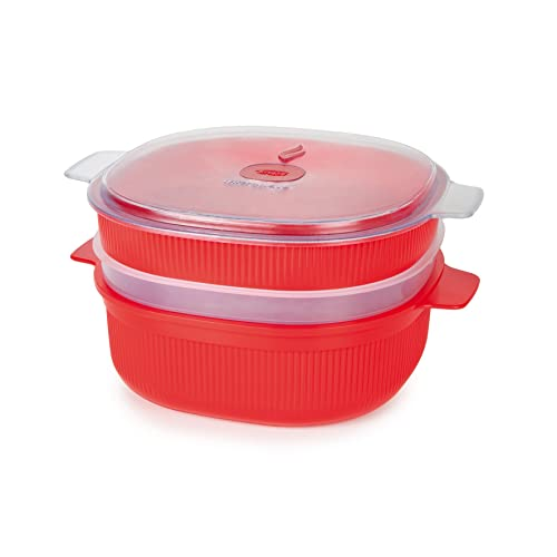 Snips Cisaille micro-onde, Plastique, Red, 2 Tier Steamer 4L