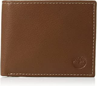 Timberland Men's Leather Wallet with Attached Flip Pocket, Tan (Blix), One Size
