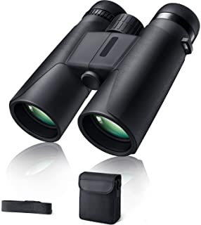 Binoculars for Adults 10x42 BAK-4 Roof Prism FMC Lens, HD Compact Durable Binoculars for Birdwatching Hunting Hiking and T...