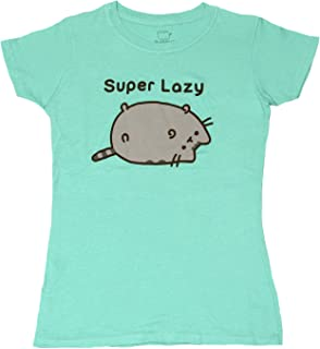 Pusheen Womens PU3J0012OL So Lazy Can't Move Tshirt Short Sleeve T-Shirt
