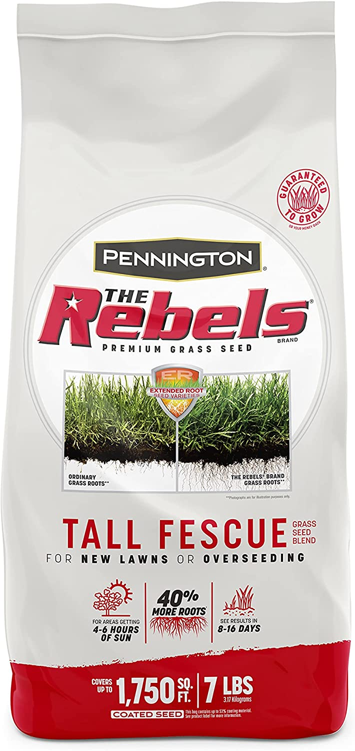 Pennington The Rebels Tall Fescue Trust Grass Blend Seed Pounds 7 4 years warranty