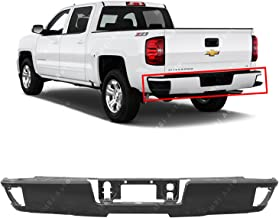 MBI AUTO - Primered, Steel Rear Bumper Shell for 2014-2018 Chevy Silverado & GMC Sierra W/Steps 14-18, GM1102565