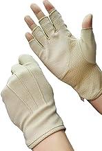 Zomerhandschoenen met halve vingers van katoen, korte kanten handschoenen, antislip, anti-uv-bescherming, dunne zonwering,...