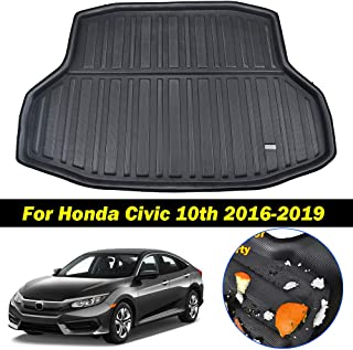 XUKEY for Honda Civic Sedan 2016-2019 Cargo Liner Boot Rear Trunk Mat Tray Floor Carpet Luggage Tray Mud Kick Pad Tailored