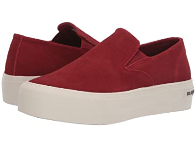 SeaVees Baja Slip-On Platform (Red Dahlia) Women