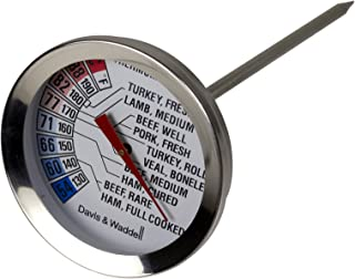 Davis & Waddell D20143 Essentials Stainless Steel Roast Meat Kitchen Cooking Thermometer 54°C to 88°C Temperature Range