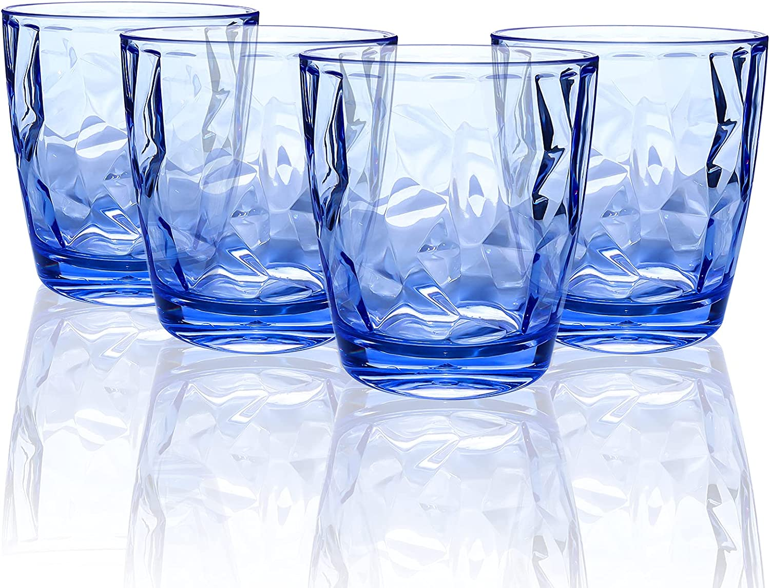 2021new shipping free shipping 10-ounce NEW before selling ☆ Plastic Water Tumblers Set Unbreakab Transparent of 4