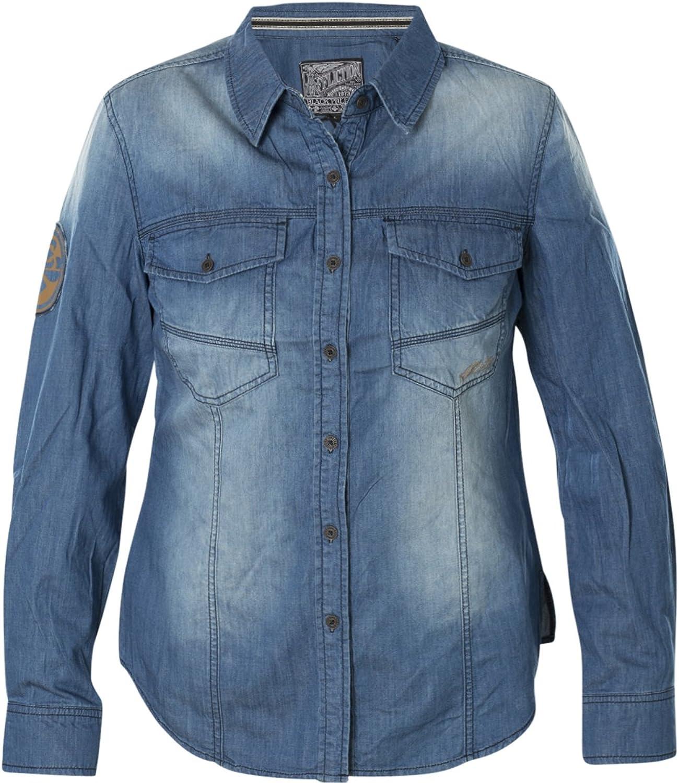 Affliction bluee Dawn Long Sleeve Shirt