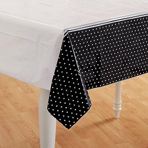 Hallmark 154829 noir and blanc Polka Dot Nappe en plastique