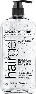 Majestic Pure Styling Hair Gel for Men & Woman with Organic Aloe Vera & Witch Hazel, 8.8 fl oz