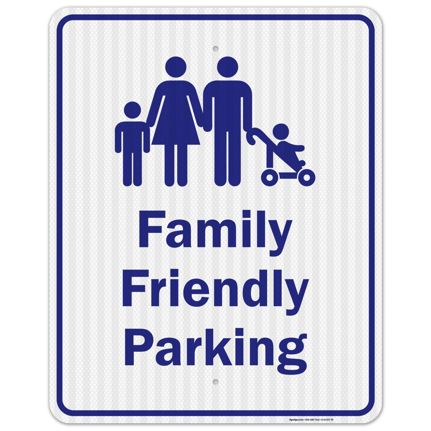 Family Max 90% OFF Friendly Parking Sign Max 66% OFF 24x30 .0 EGP Reflective 3M Inches