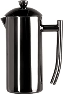 Frieling USA Double Wall Stainless Steel French Press Coffee Maker with Patented Dual Screen, Black Metallic, 23-Ounce (Pack of 8)