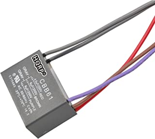 HQRP Capacitor for Hampton Bay Ceiling Fan CBB61 4.5uf+6uf+6uf 5-Wire plus HQRP Coaster