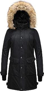 Men's Women's Superior Hooded Parka Jacket Winter Warm Faux Fur Lined Coat with Detachable Hood