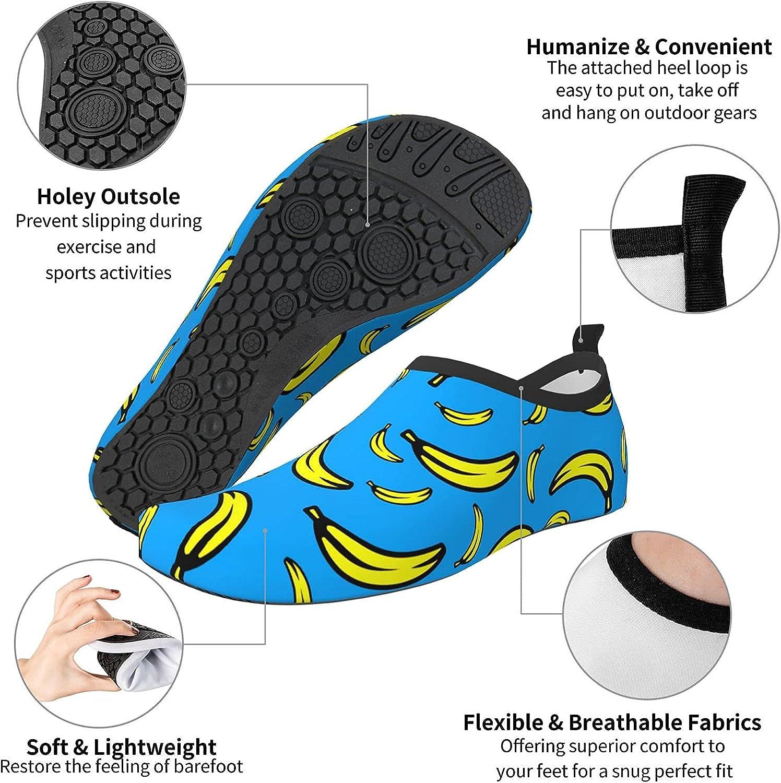 QIEARA Water Sports Shoes Barefoot Quick-Dry Aqua Yoga Socks Slip-on for Men Women
