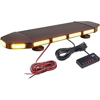 56 LEDS RECOVERY WARNING STROBE LIGHT BEACON AMBER 60W 12//24V 16 MODES 5m