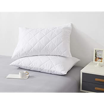Pack of 2 50 x 75CM - 100/% Hypoallergenic   COMFORTESY Quilted Pillow Protectors Standard Size