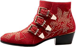 Best studded buckle booties Reviews