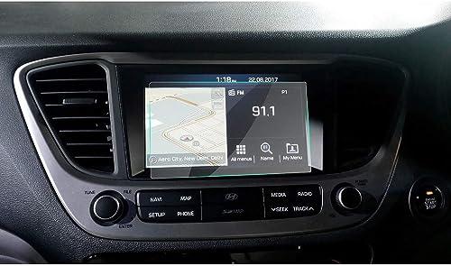 RUIYA Car Tempered Glass Screen Protective Film for 2017 2018 Hyundai Verna AVN System Touch Screen Car Display Navig...