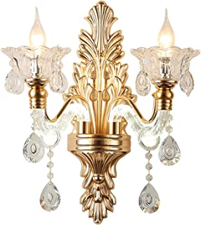 Sconce/Wall Sconces LED Wall Lamp Alloy Crystal Double Head Wall Lamp Creative European Modern Lamp Arm Luminous Bedroom L...