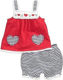 Adiasen Little Girl's Dot Prints Summer Clothing Sets