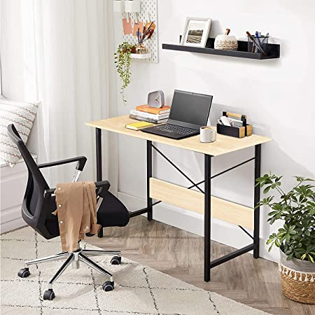 Kawachi Engineered Wood Laptop Table Computer Desk for Writing Study for Home & Office Use Beige