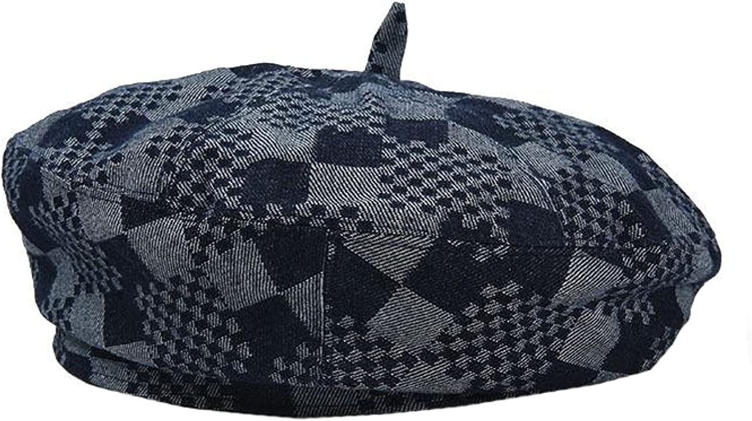 Cotton Berets for Women Retro Style Painte British Fashion Denim San Francisco Mall All stores are sold