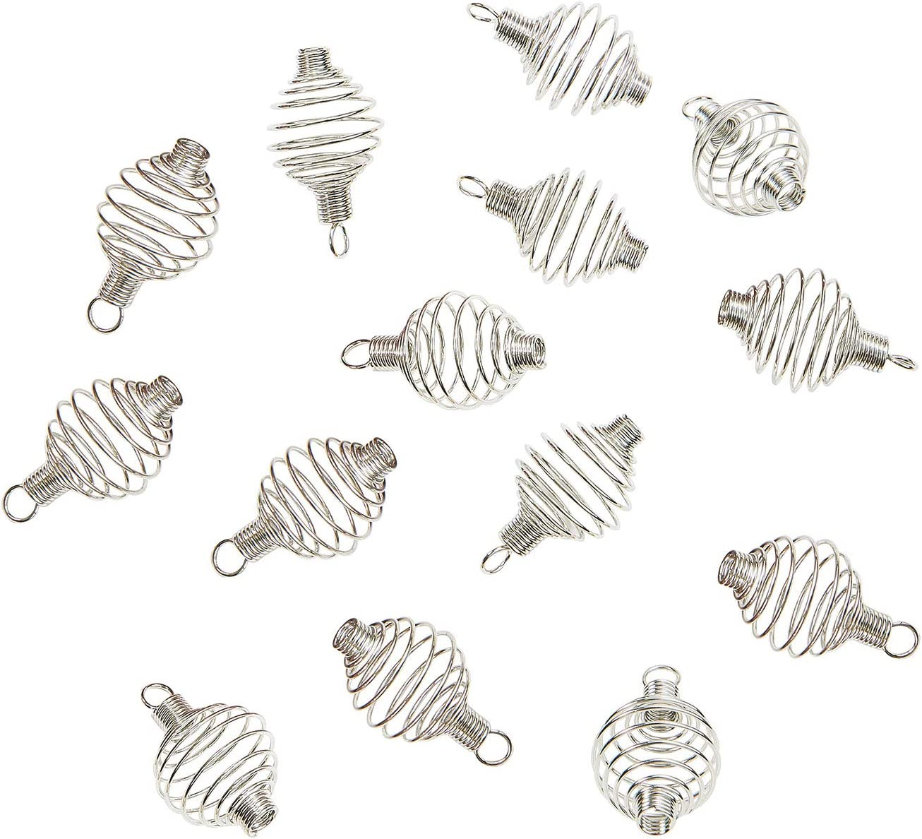 Airssory 100 Pcs 304 Stainless Steel Max 56% OFF Spiral mart Shap Cages Lamp Bead