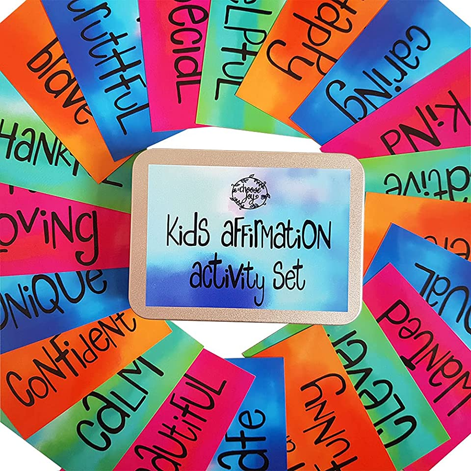 Kids affirmation activity set- interactive and empowering activity cards for confidence boosting and improved self belief- by Choose Joy