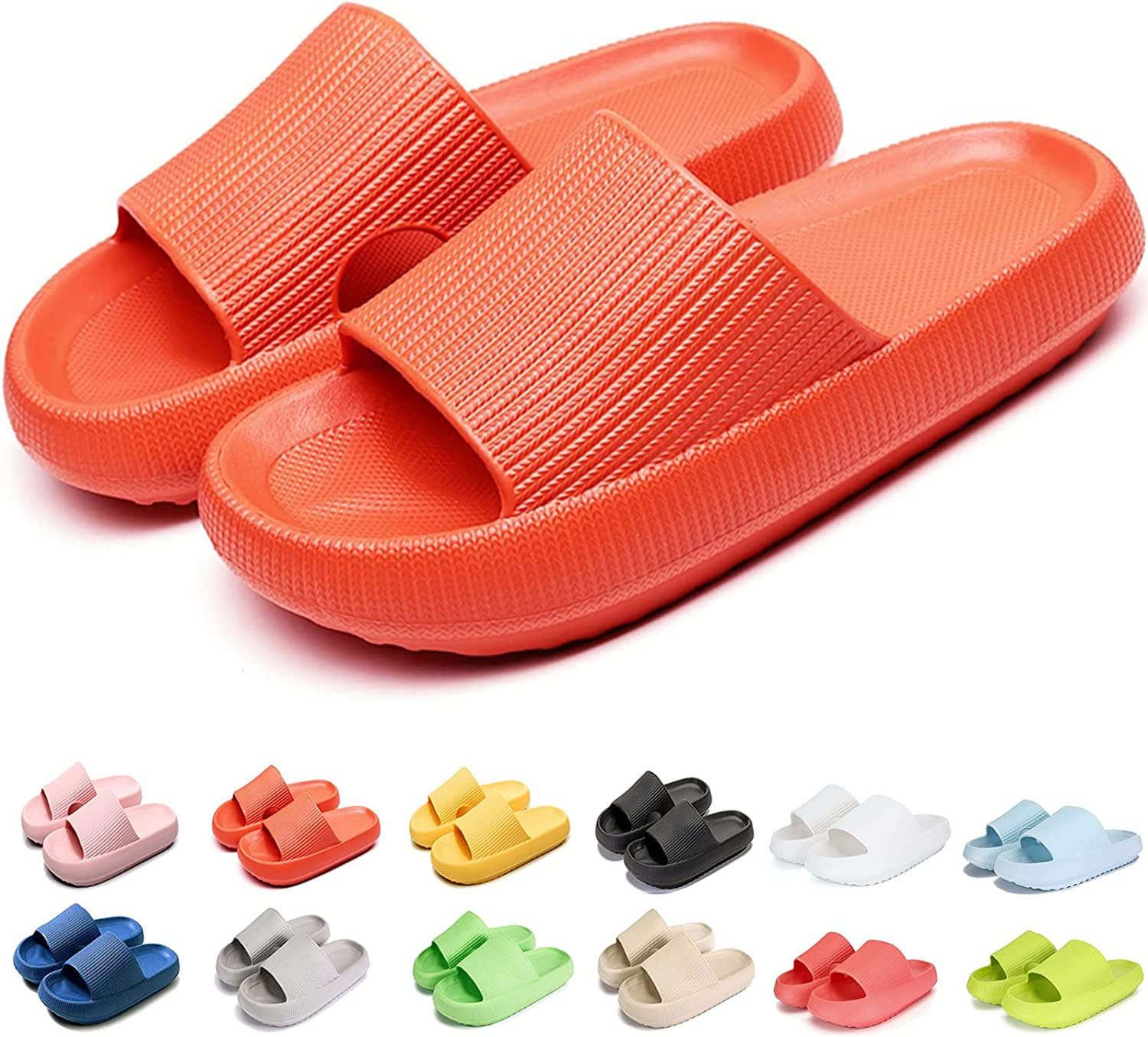 Pillow Slides Slippers Massage Shower Memphis Mall Uni Soled Thick Soft Super Max 61% OFF
