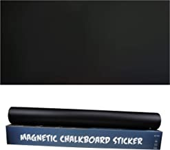 Magnetic Chalkboard Contact Paper 48'' × 24'' Self-Adhesive Blackboard Wall Sticker with Easy Peel, Stick Sheet, Dry Eraser