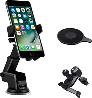 TERSELY Universal Mobile Phone Car Holder Mount, 360°Rotating Car Phone Cradle Holder Suction Windshield for Apple iPhone ...