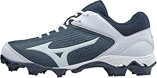 Mizuno Women's 9-Spike Advanced Finch Elite 3 Fastpitch Cleat Softball Shoe, Navy/White, 12 B US