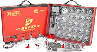 new Hansol Professional Cupping Therapy Equipment 30 Cups Set with pumping handle and Extension Tube