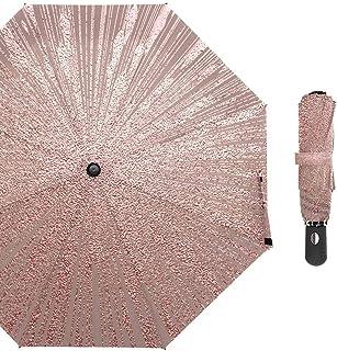 HKXR Metallic Glossy Texture Umbrella Automatic Wind Resistant Folding Umbrella Rain Women Auto Rainy Windproof Umbrellas Men (Color : Customized)