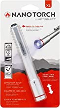 KeySmart Nano Torch XL - Compacte penzaklamp, instelbare focus (zilver)